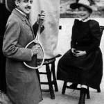 Marcel jouant une sonate à une petite fille que cela fait bien rigoler.