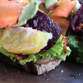 How beautiful is this sandwich?! The veggie sandwich from Tosta Gastrtopub.