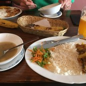"""Moliendo Café, lunch of the day for $2.50. DELICIOUS!! I""""m ready to go back :)"""