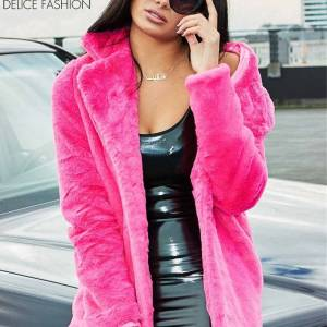 City Winter Faux Fur – Rose