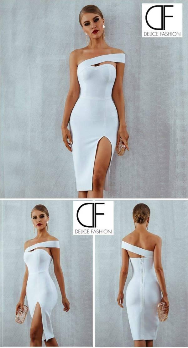 """""""Ibiza"""" – Bandage Robe Blanc"""