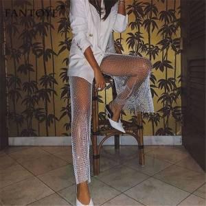 Pantalon Sexy élastique résille