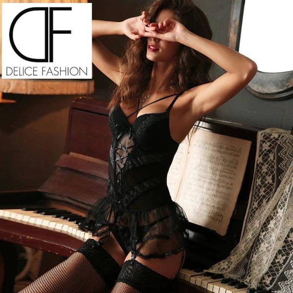 Ensemble lingerie sous-vêtements à lacets Bustier Corset