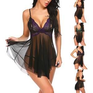 Nuisette sexy robe de nuit dentelle