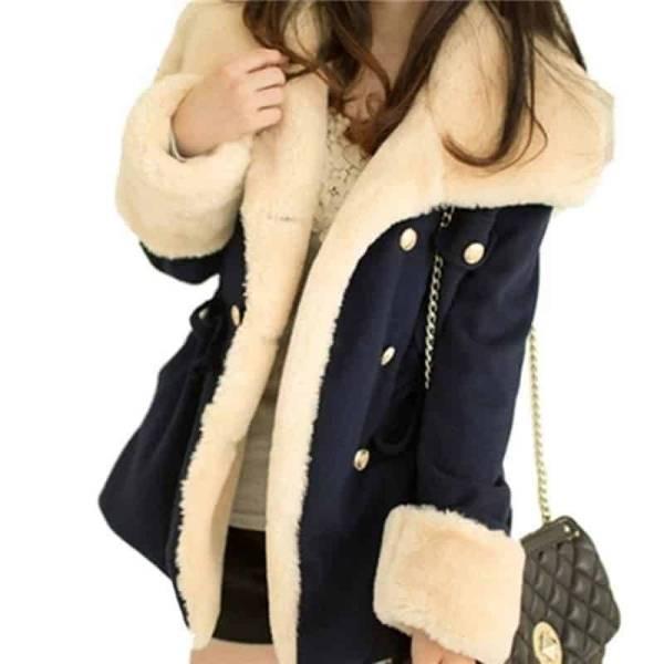 Manteau Double boutonnage épais