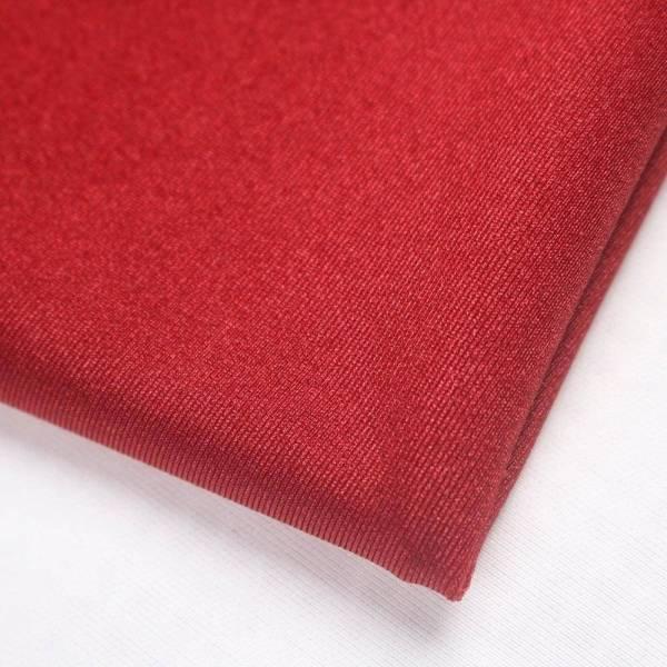 Robe de soirée longue, rouge foncé, extensible, sans manches, plissée, épaules dénudées, fente latérale 8