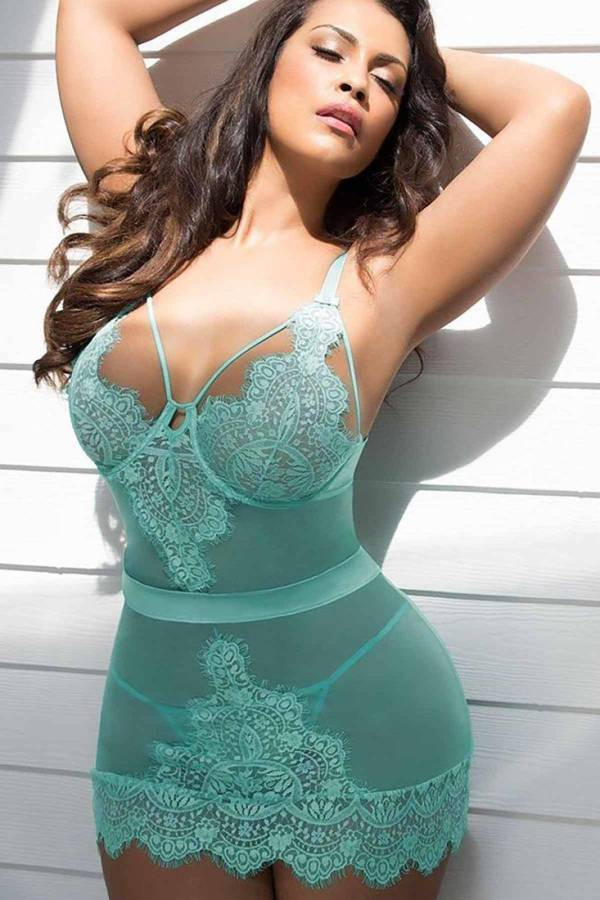 Lingerie nuisette Grande Taille sexy 3