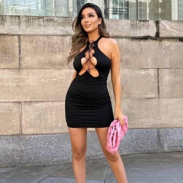 Mini robe moulante sexy 6