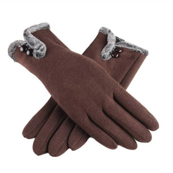 Gants d'hiver chauds en velours coton pour femmes 6