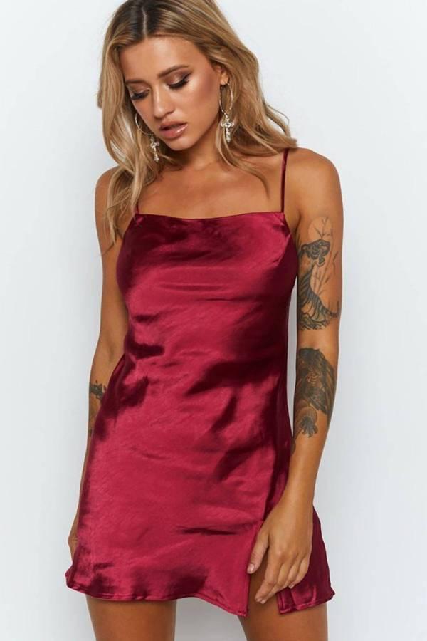 Robe de nuit courte en Satin pour femmes 10