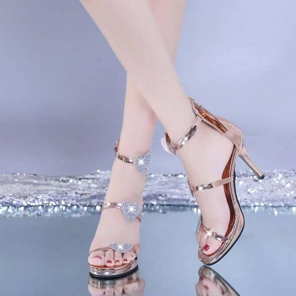 Chaussures brillantes à paillettes 5