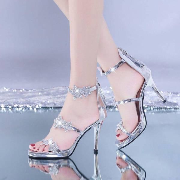 Chaussures brillantes à paillettes 2