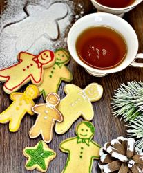 Traditional Christmas Cookies with decoration