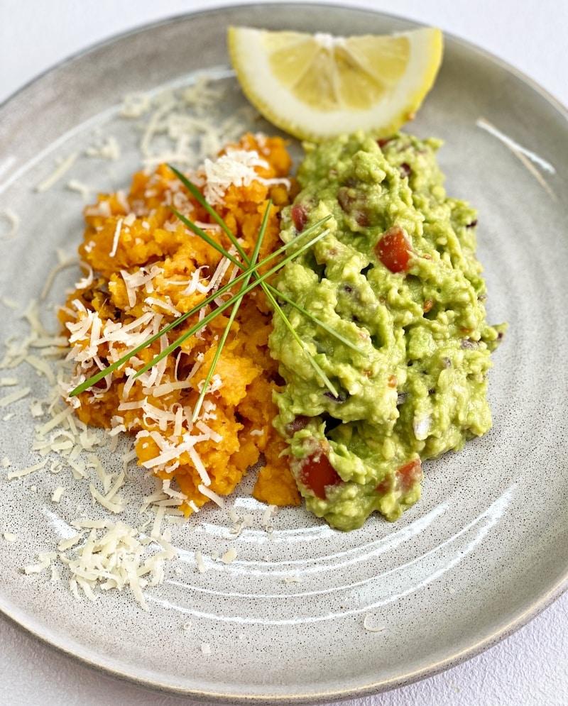 Sweet potato with guacamole