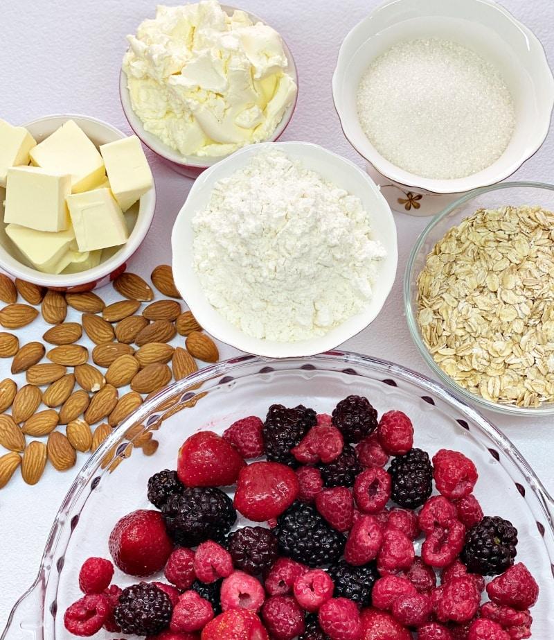 berry crumble ingredients