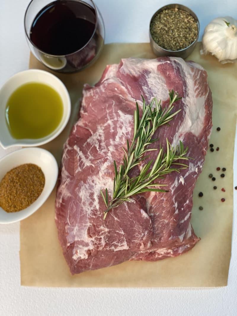 slow-braised pork ingredients