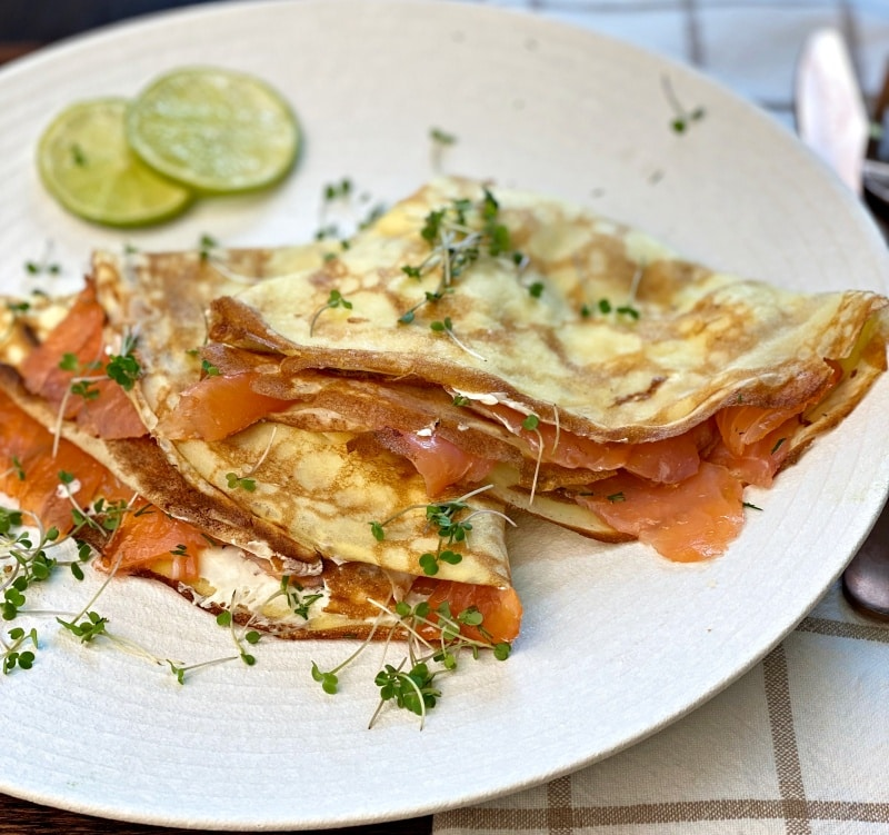 salmon crepes recipe