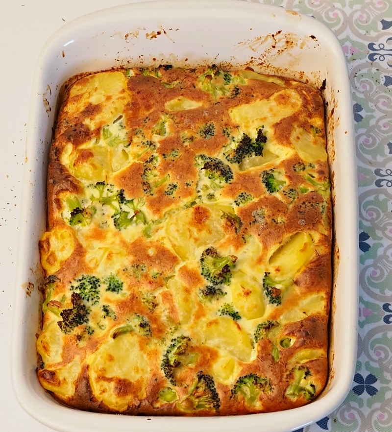 Cheesy Broccoli Potato Casserole