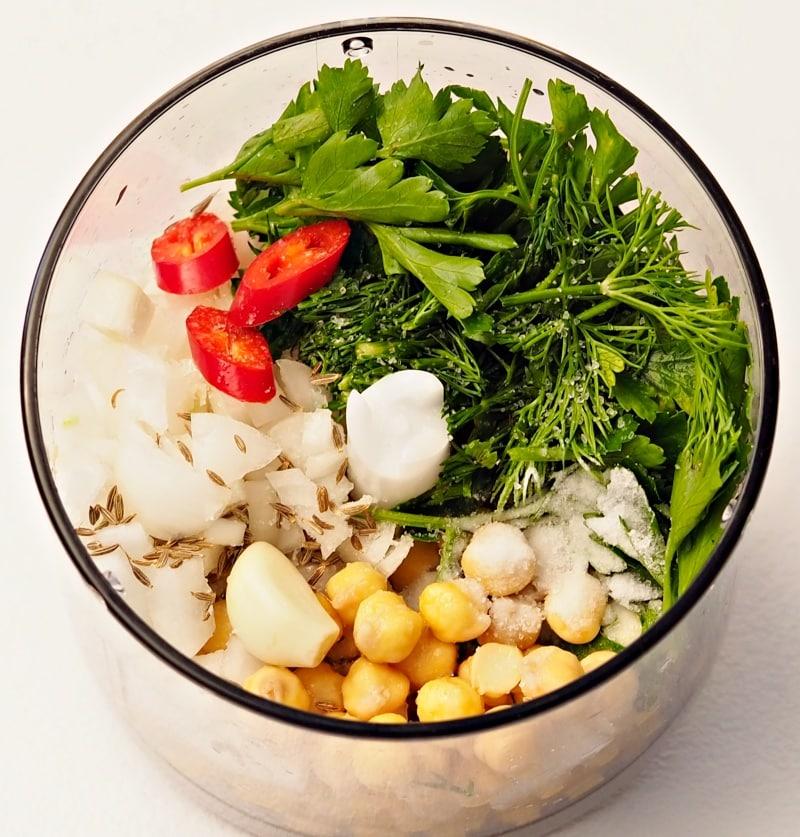 blend falafel ingredients