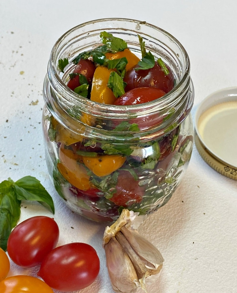 how to marinate cherry tomatoes in jar
