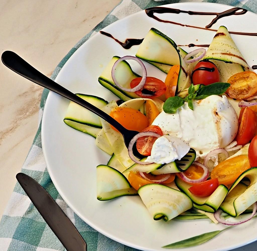 Zucchini Salad with Burrata