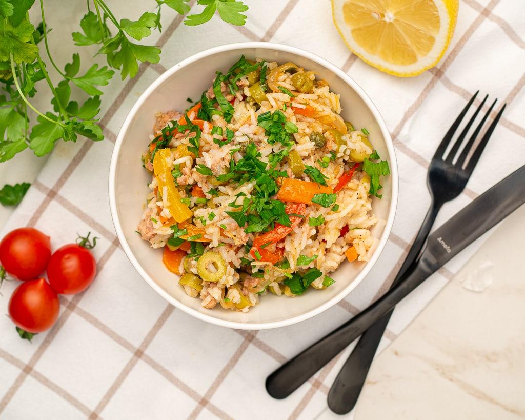 italian rice salad recipe with tuna
