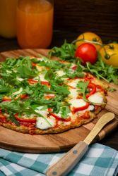 keto pizza meatza