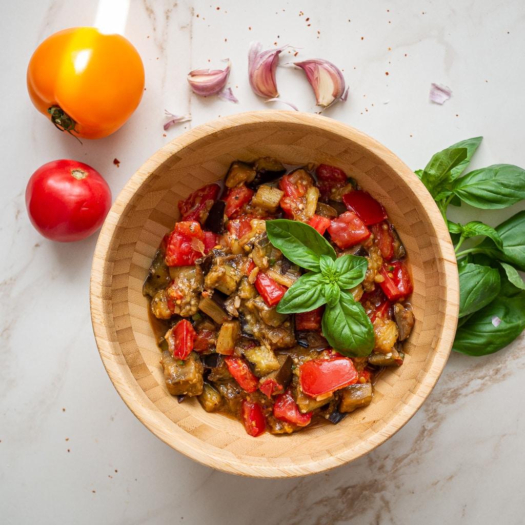 aubergine tomato stew