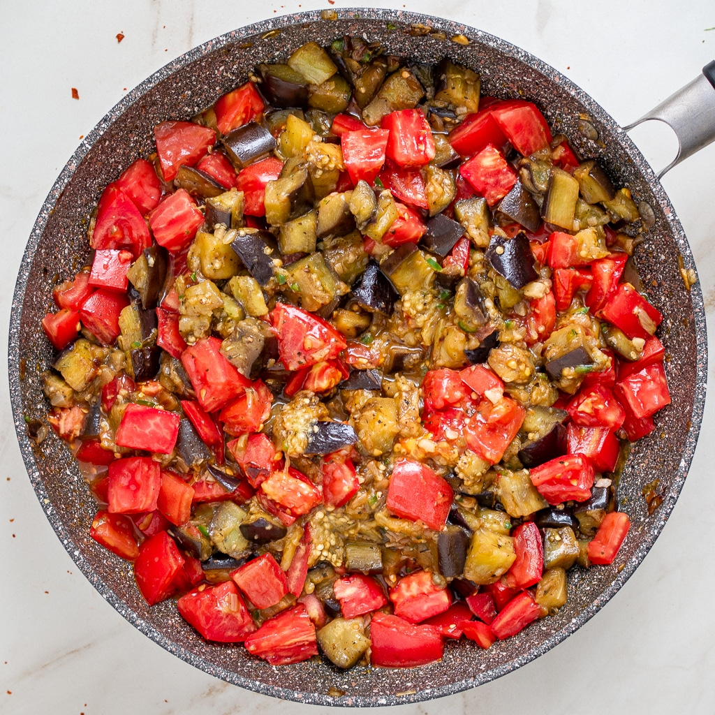 aubergine stew with tomatoes