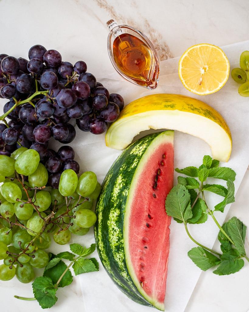 ingredients for fruit bowl recipe