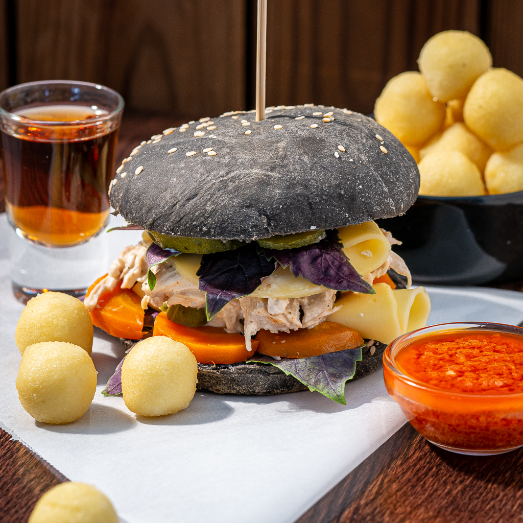 Delicious Pulled Chicken Burger