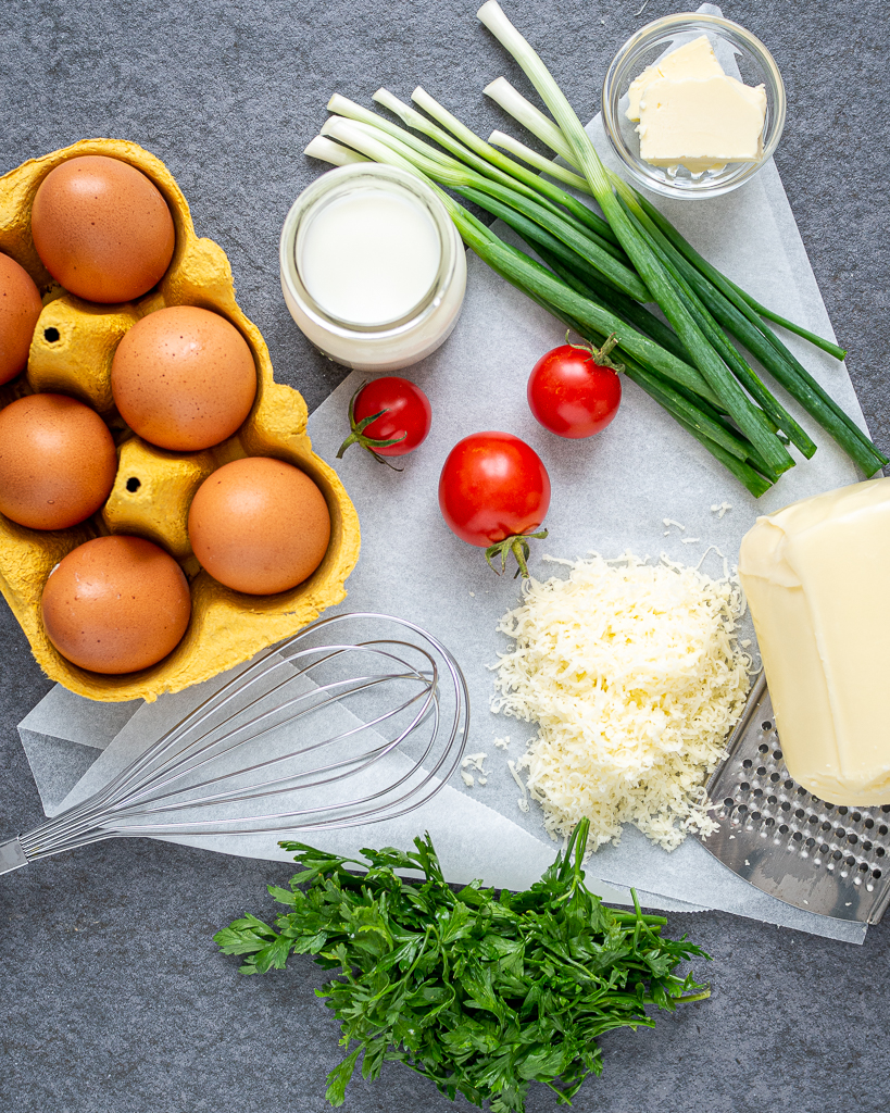ingredients for Cheese omelet recipe