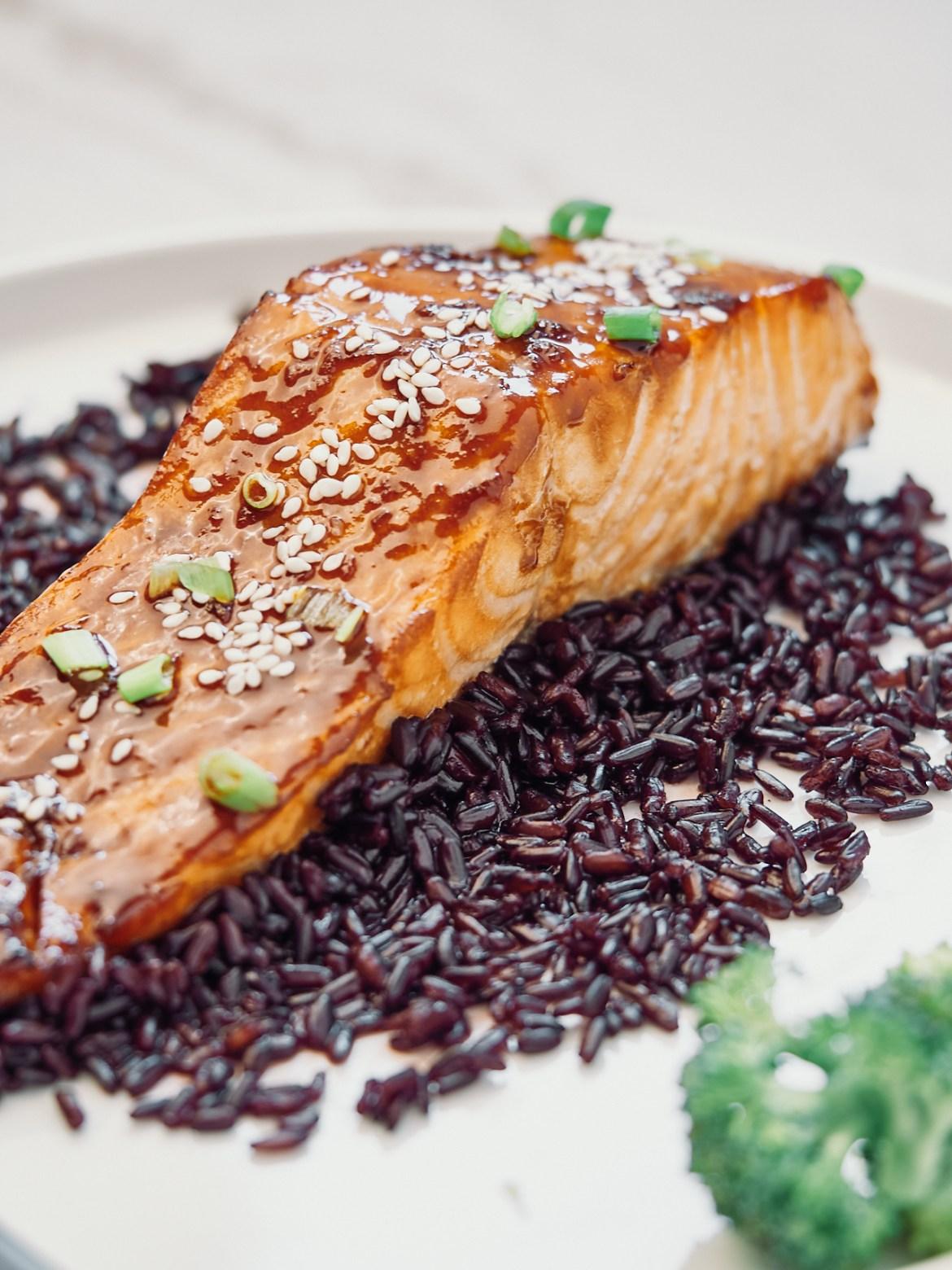 teriyaki salmon steak