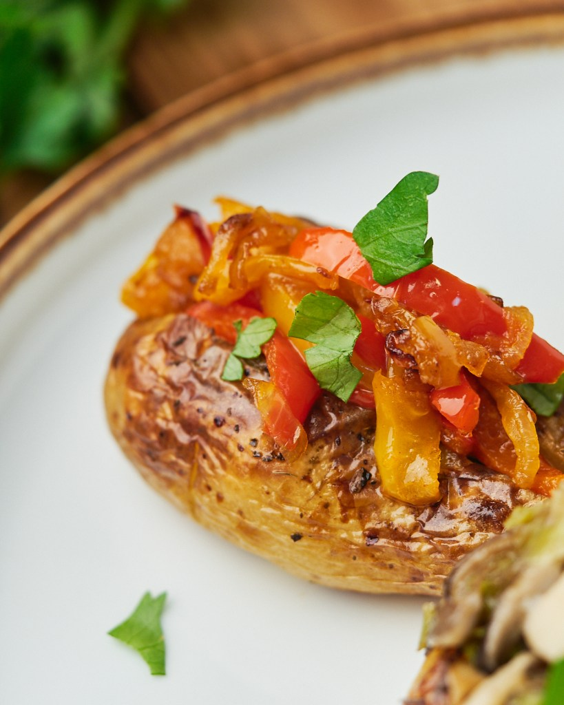 Baked Vegan Stuffed Potatoes