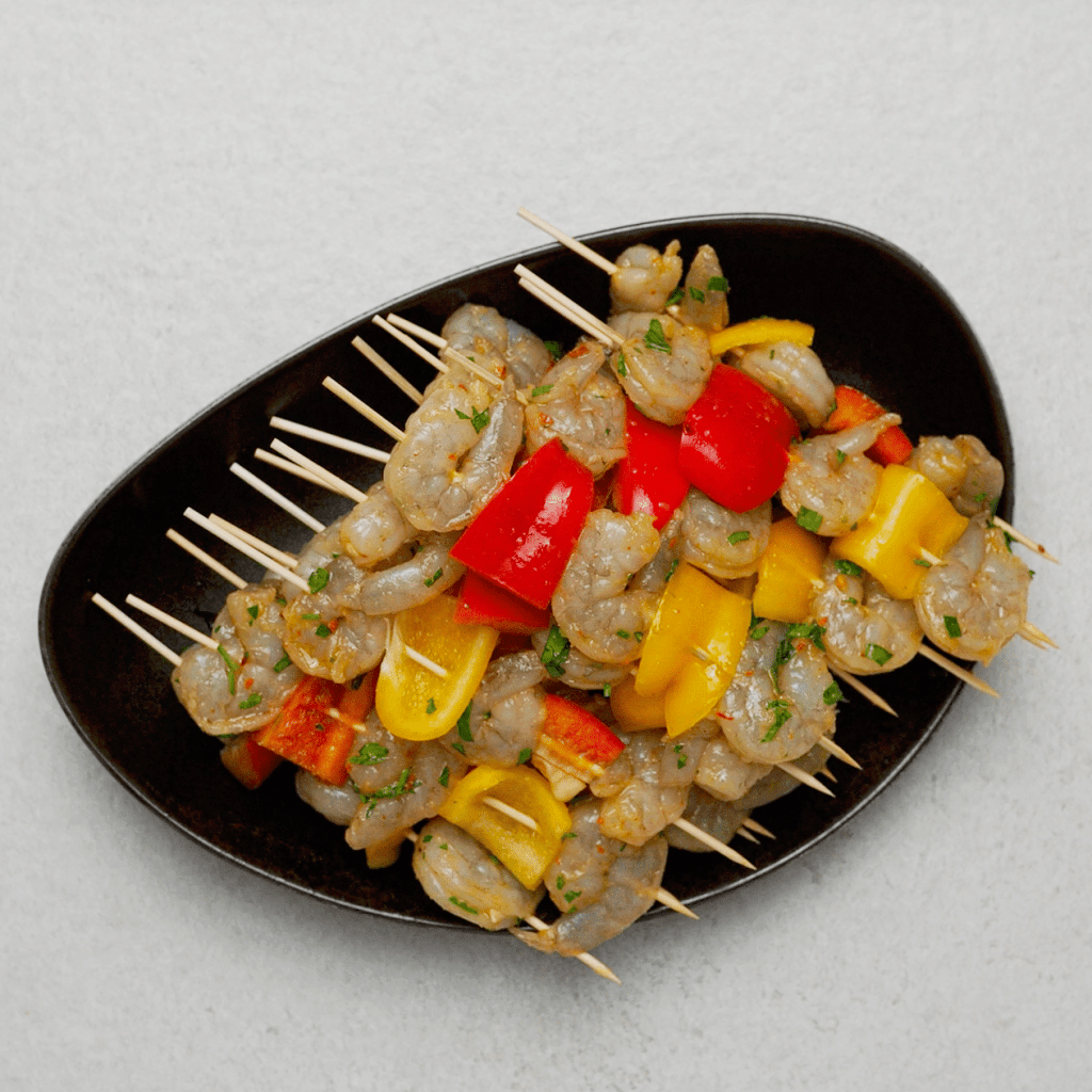 Grilled Shrimp Kabobs with Peppers
