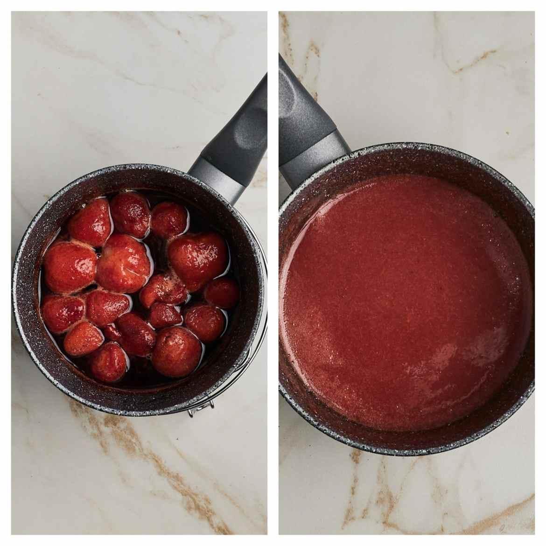 jelly no-bake strawberry cheesecake