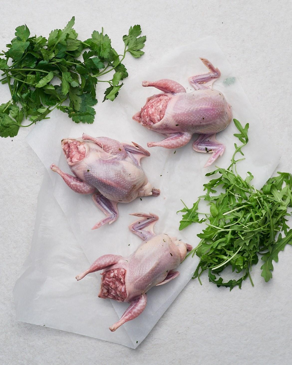 method sausage stuffed quails