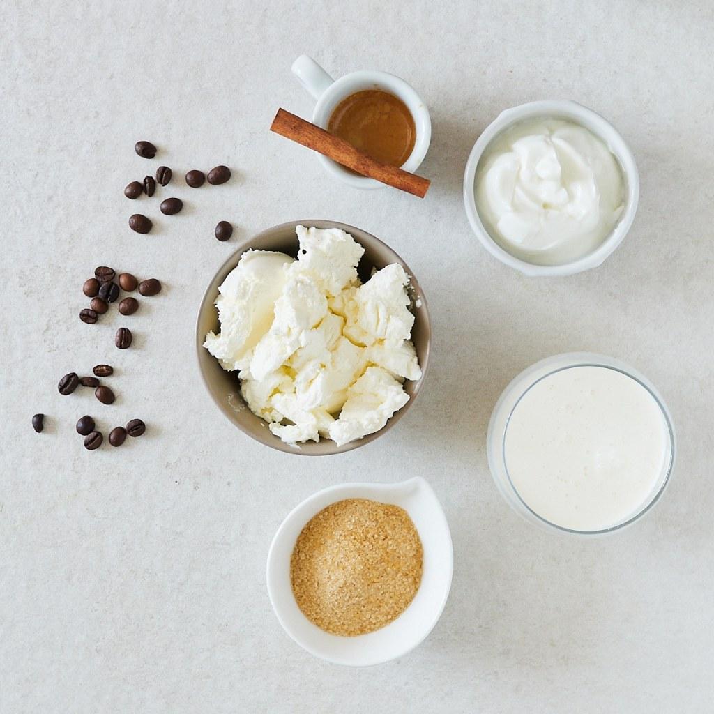 No-Bake Coffee Yogurt Mousse Ingredients