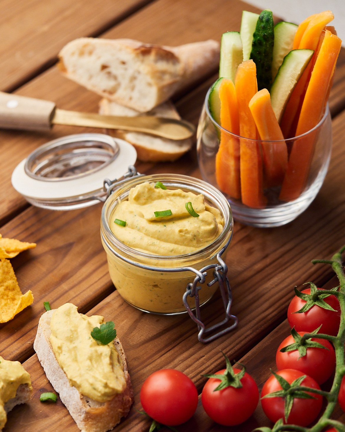 cream cheese dip with bell peppers