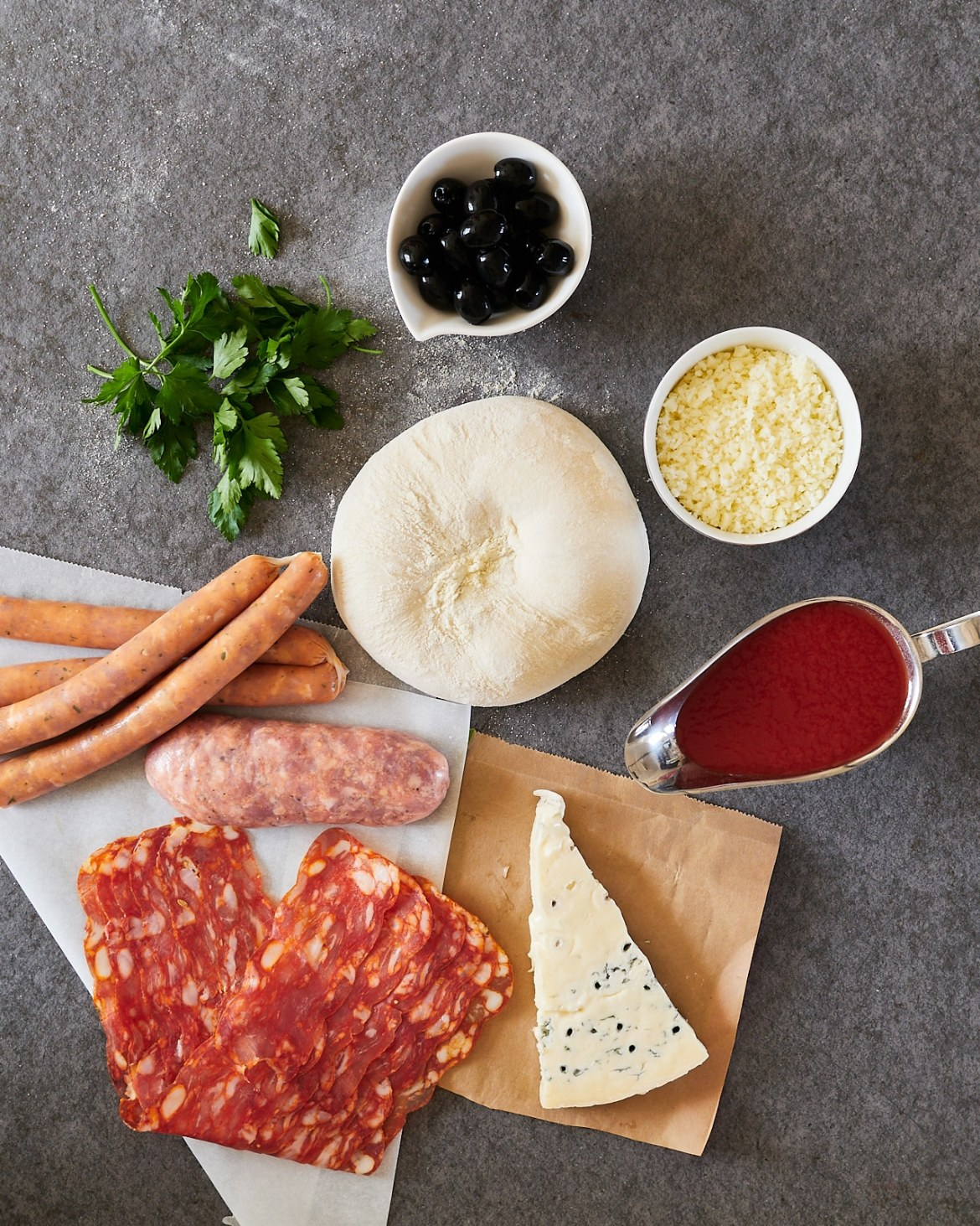 ingredients for sausage pizza