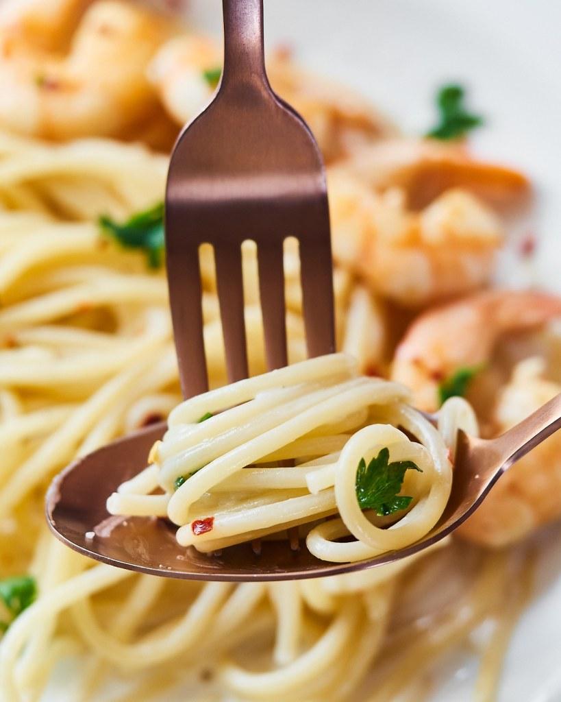 Shrimp Spaghetti with Coconut Milk