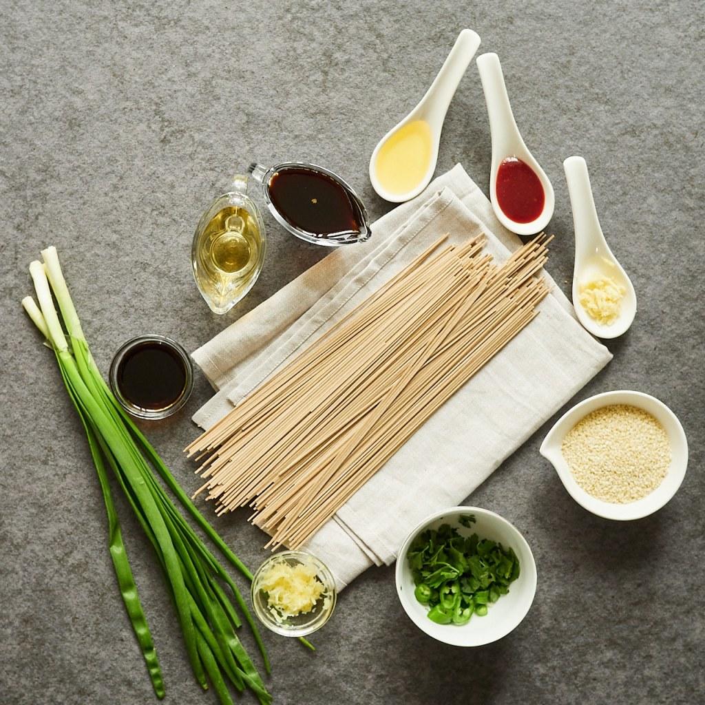 Simple Sesame Soba Noodles Ingredients