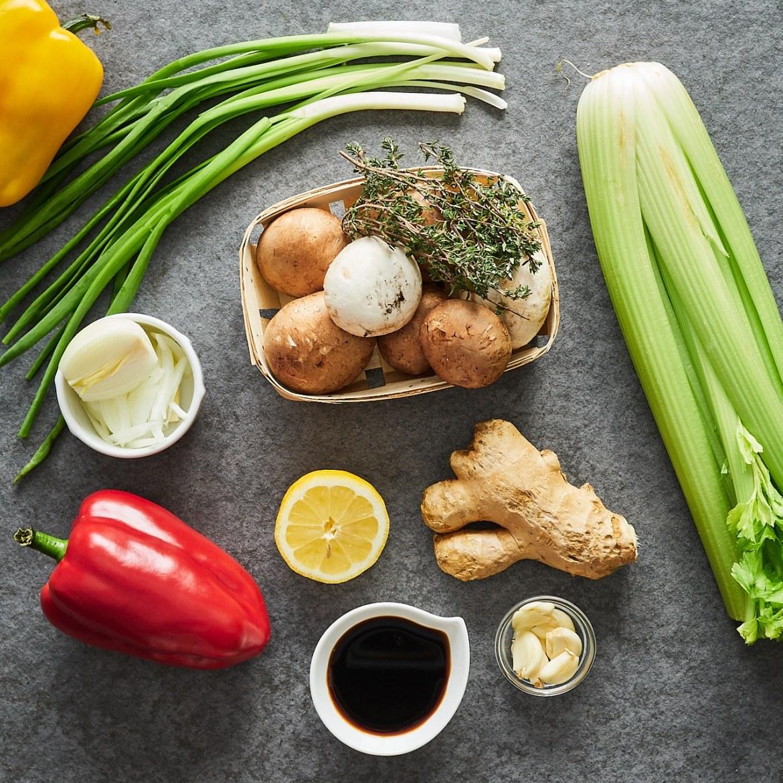 ingredients for mushroom stir fry