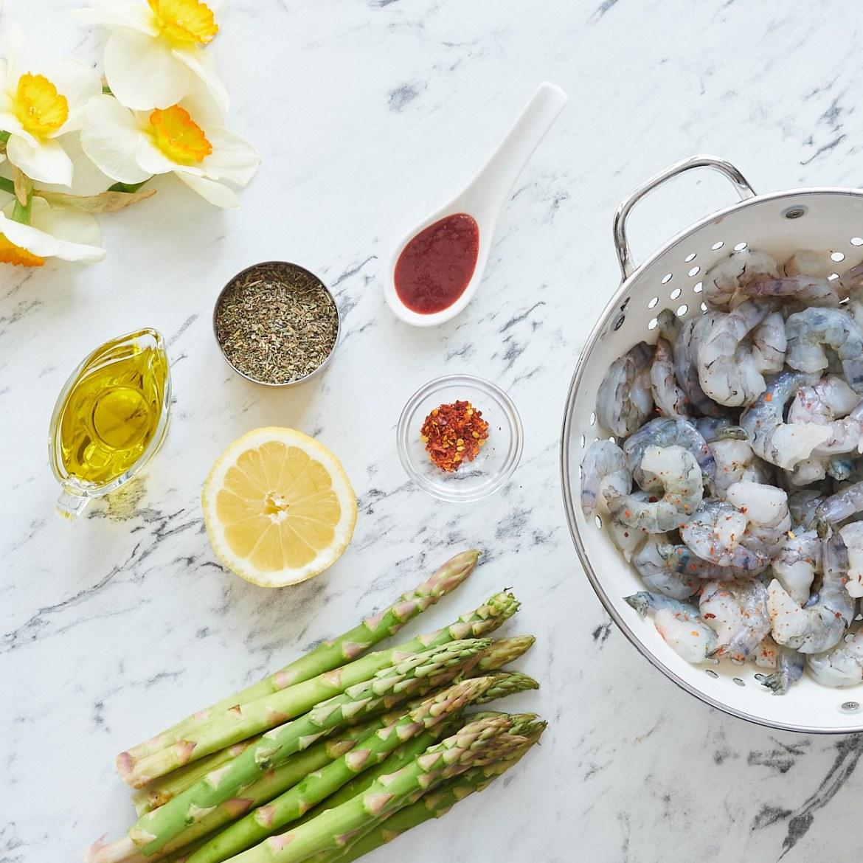 ingredients shrimp and asparagus skillet recipe