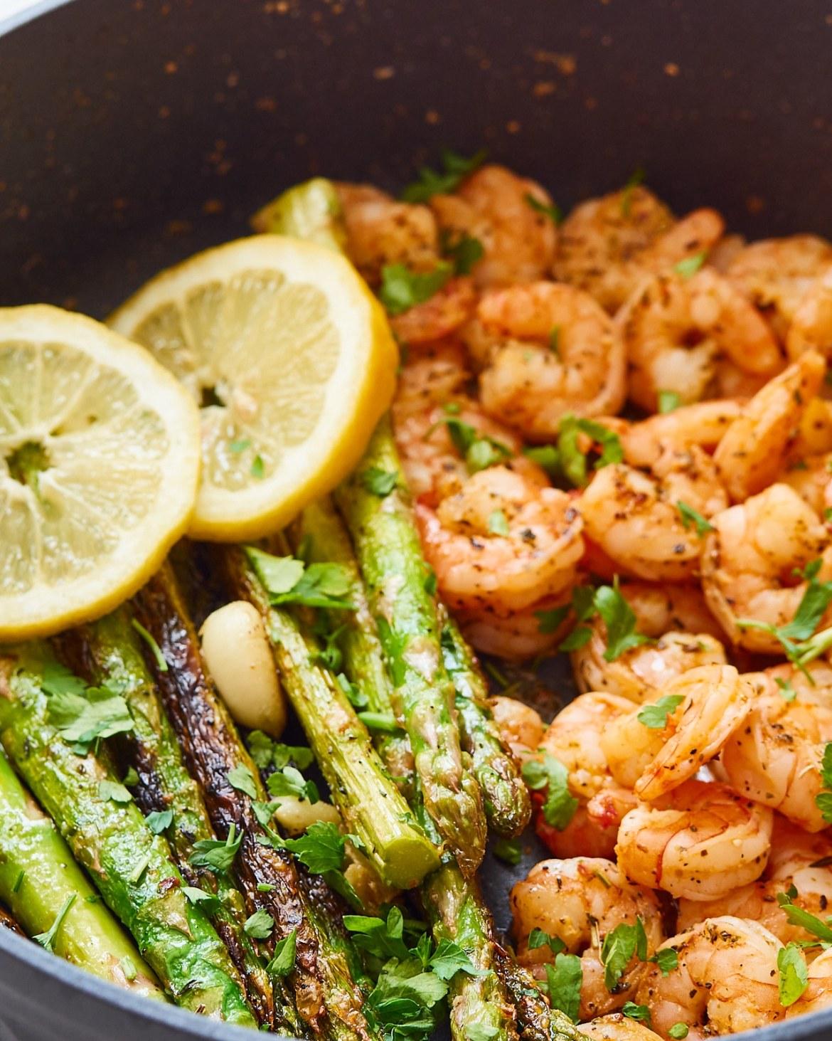 shrimp and asparagus skillet recipe