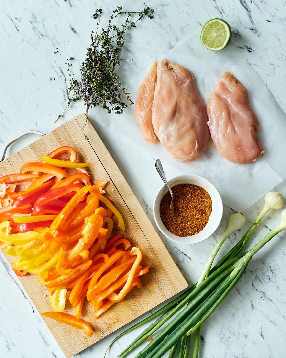 ingredients chicken fajitas