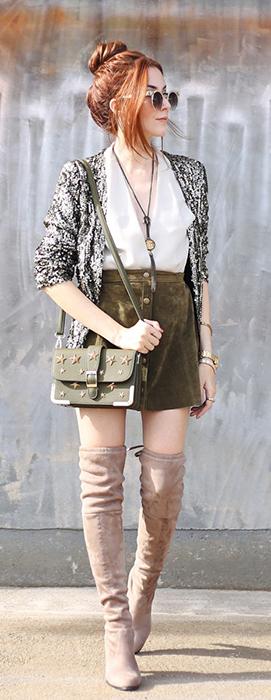 Flavia do Fashion Coolture mostra como usar minissaia no inverno