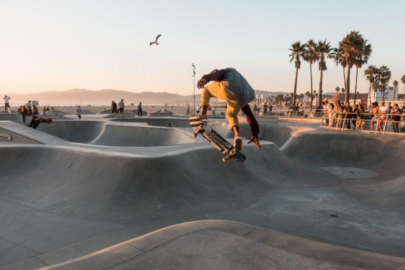 Skatista em Venice Beach, California