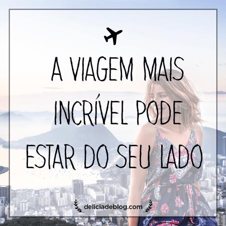 Frase de viagem inspiradora no Rio de Janeiro, parte do post cinco dicas para viajar mais do Delicia de Blog.