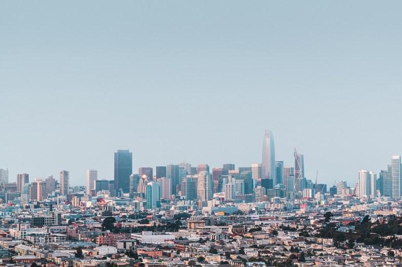 Vista de Bernal Heights, em San Francisco